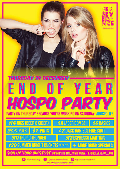 End of Year Hospo Party