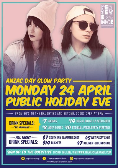 Anzac Day Eve Glow Party