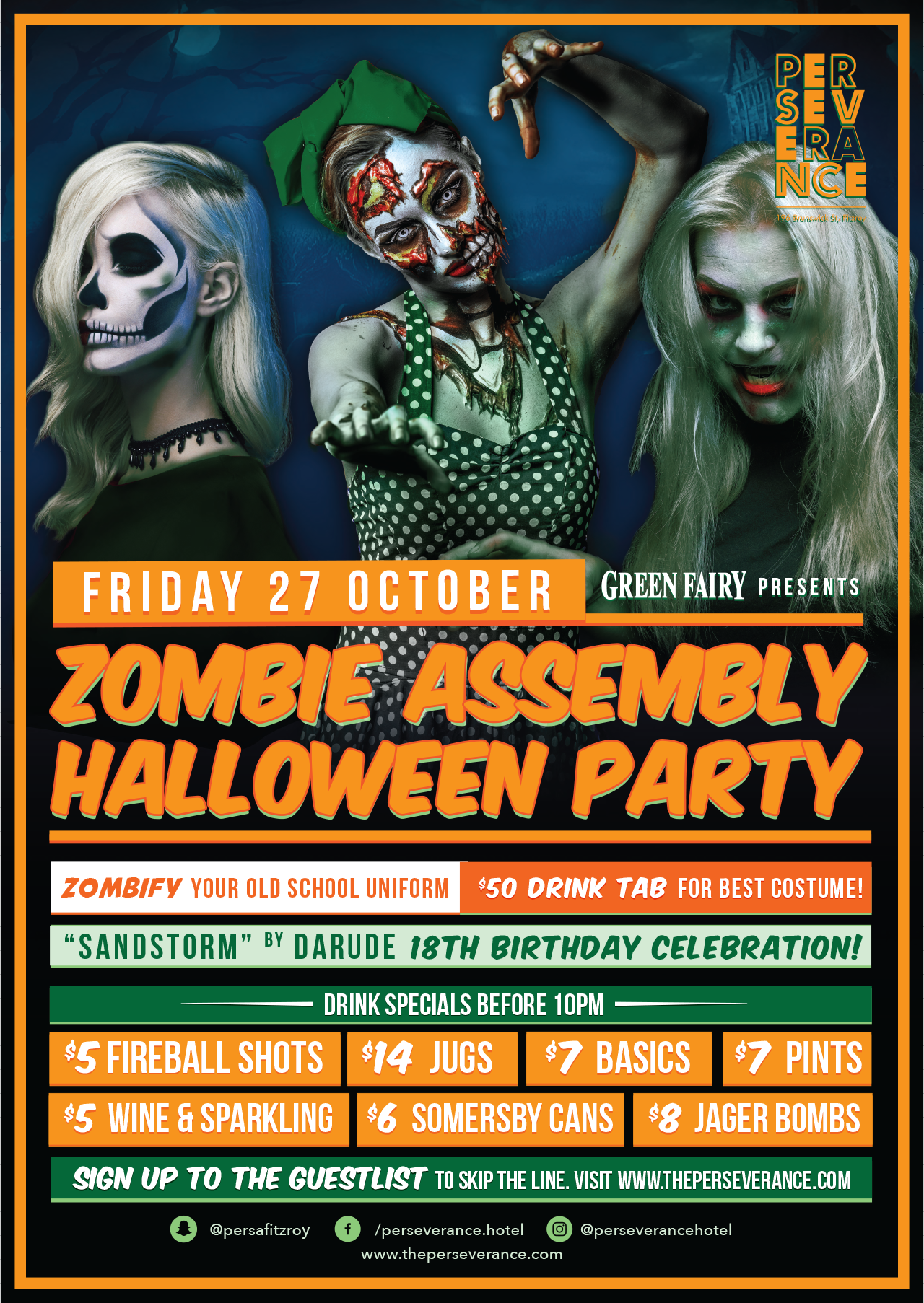 Zombie Assembly Halloween Party